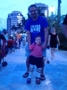 We went to the 4th on Flagler for the Fourth of July Fireworks show.