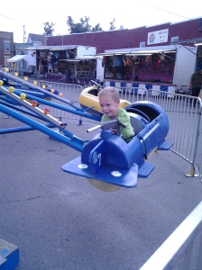 Drew finally got to enjoy a festival ride at the Corn Festival after a year and a half of restrictions